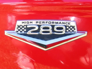 Correct fender badge for 289 Hi-Po